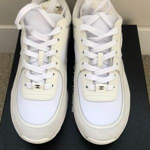 Chanel 19 White Sneakers